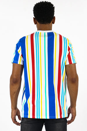 Aao Fashion Men Pinstripe Allover Print Tee