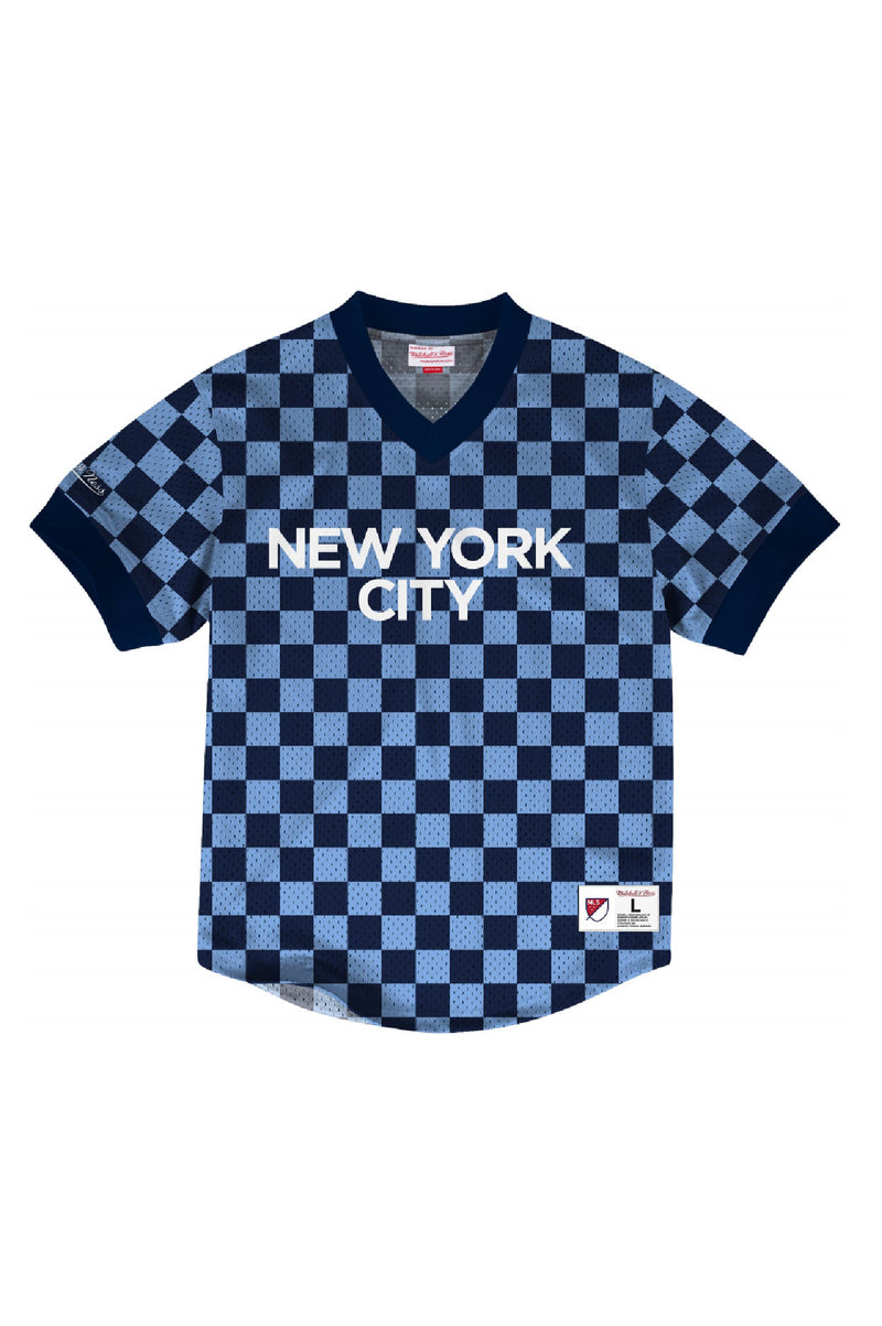 Mitchell & Ness Men Mesh Vneck Nyc Fc