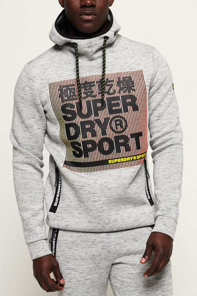 Superdry Men Core Gym Tech Strtch Grphc Overhead Hoodie