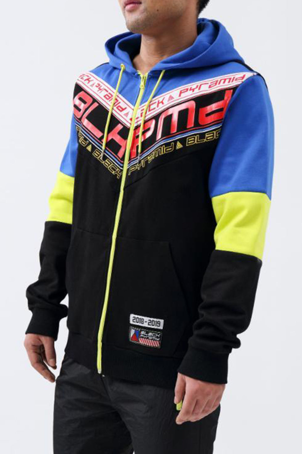 Black Pyramid Men Future Of Neon Hoodie