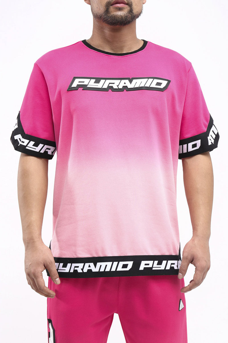 Black Pyramid Men Dip Dye Shooting Jersey