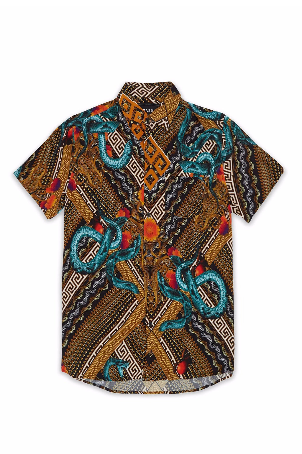 Reason Men Serpents Woven Shirt