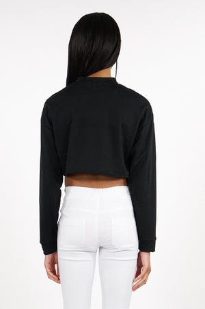 Aao Fashion Women Cropped L/S Top