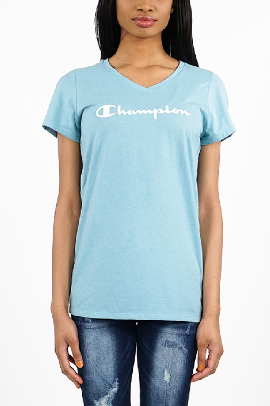 Champion Women Jersey V-Neck Tee - Graphic