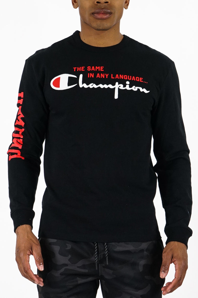 Champion Men Heritage Ls Tee Multi Language