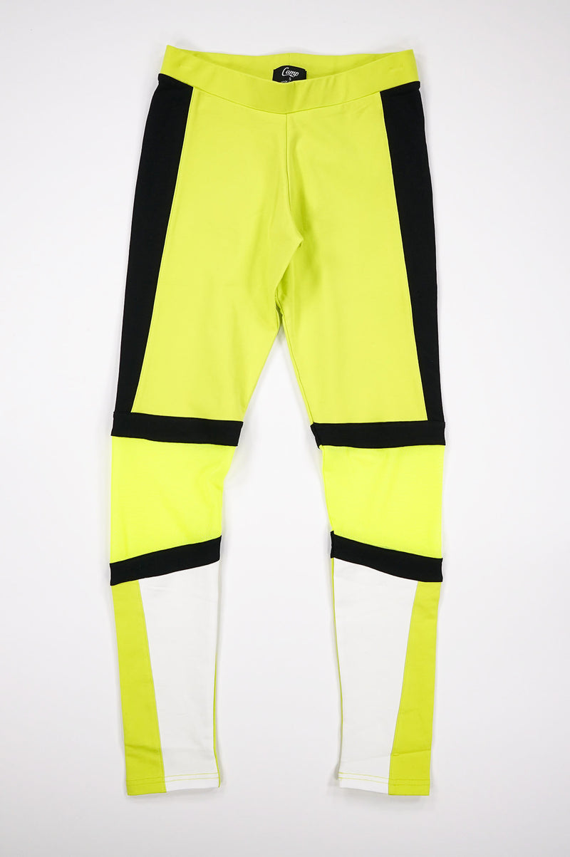 Aao Fashion Women Color Blocked Neon Legging