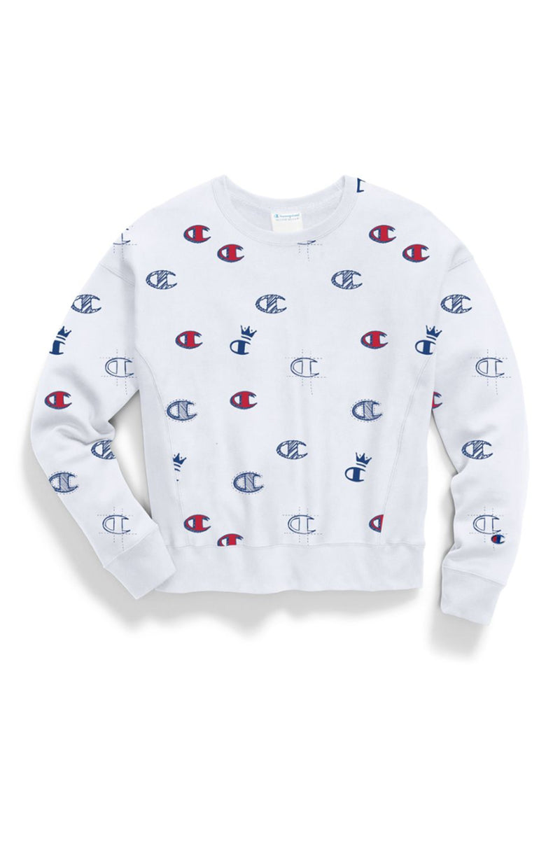 Champion Women Reverse Weave Crew-All Over Print