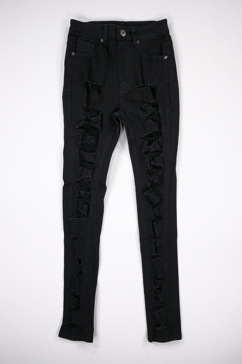Aao Fashion Women Multi Ripped High Waist Pants