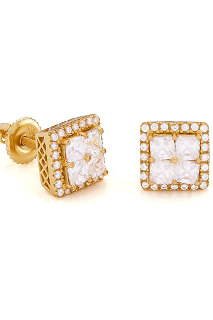 Aao Fashion Acc Men Earring 14K Layered Cz