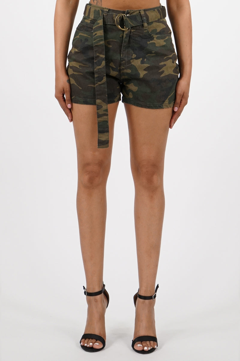 Aao Fashion Women Color Camo Shorts