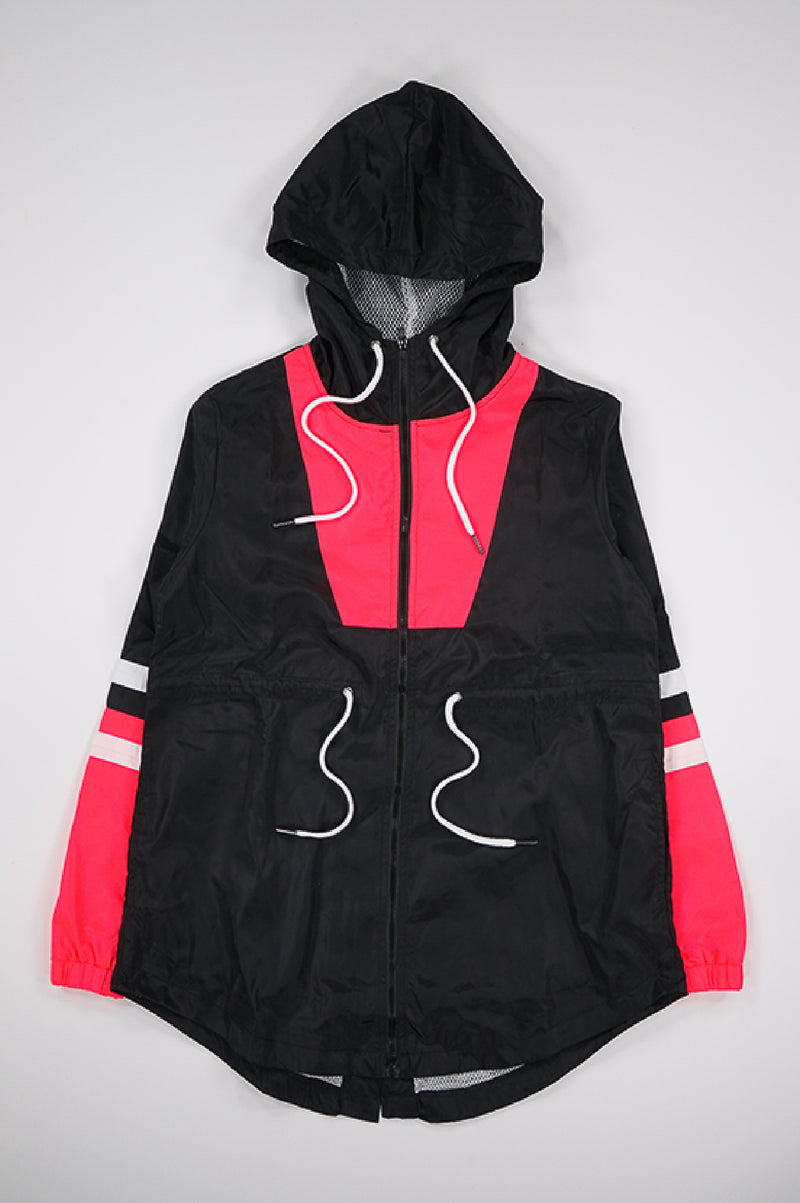 Aao Fashion Women Long Wind Breaker