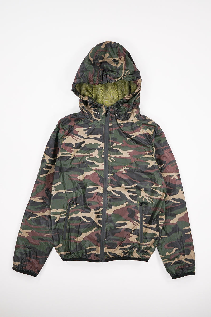Aao Fashion Women Camo Windbreaker