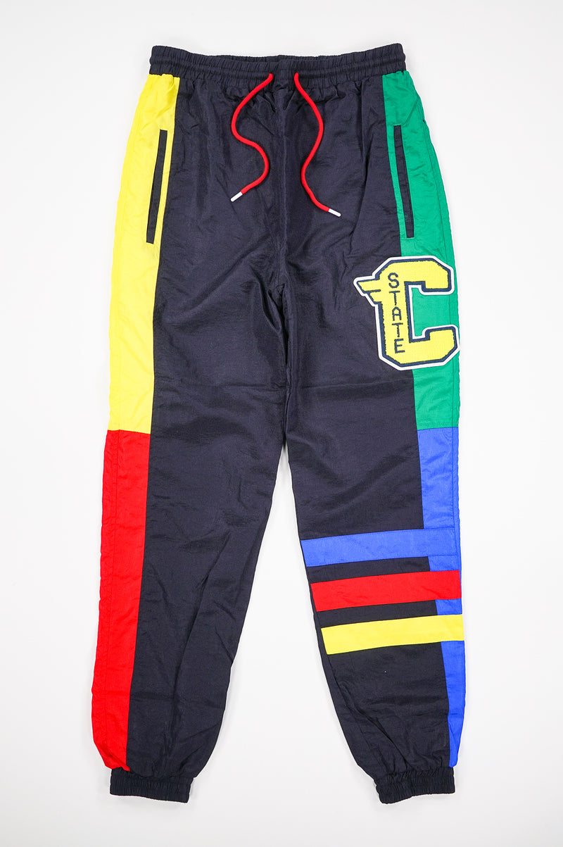Aao Fashion Men Color Block Nylon Pants
