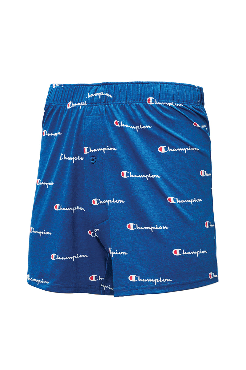 Champion Men C Script Knit Boxers