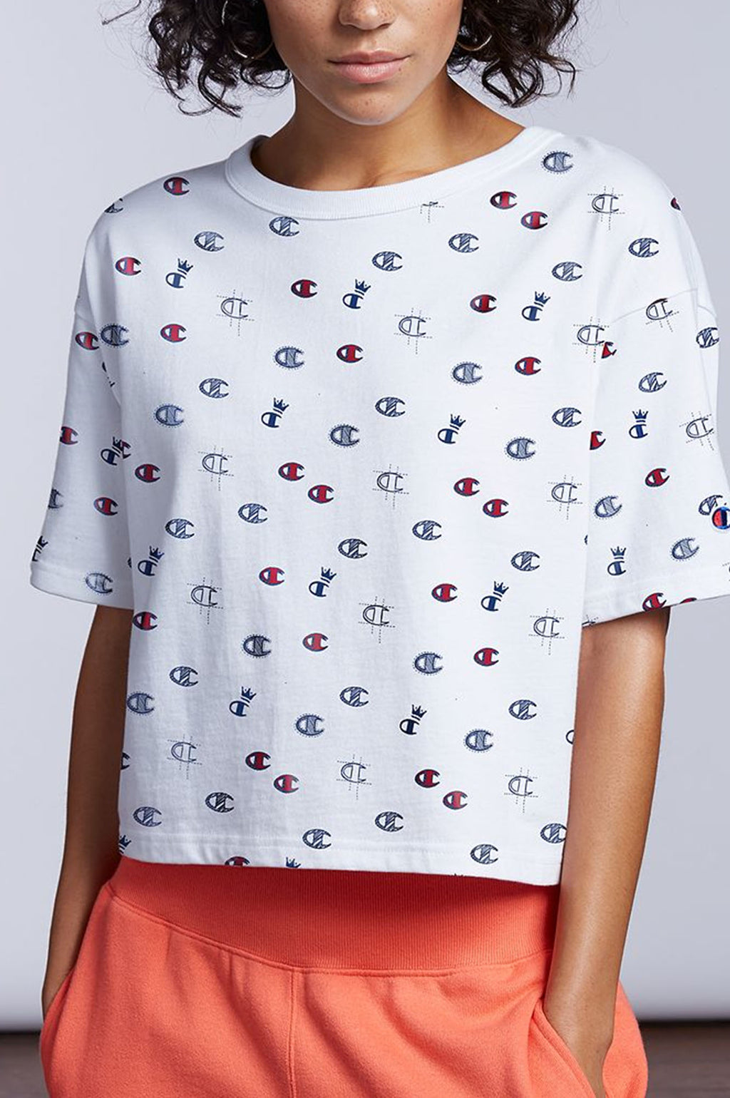 Champion Women C Allover Crop Tee