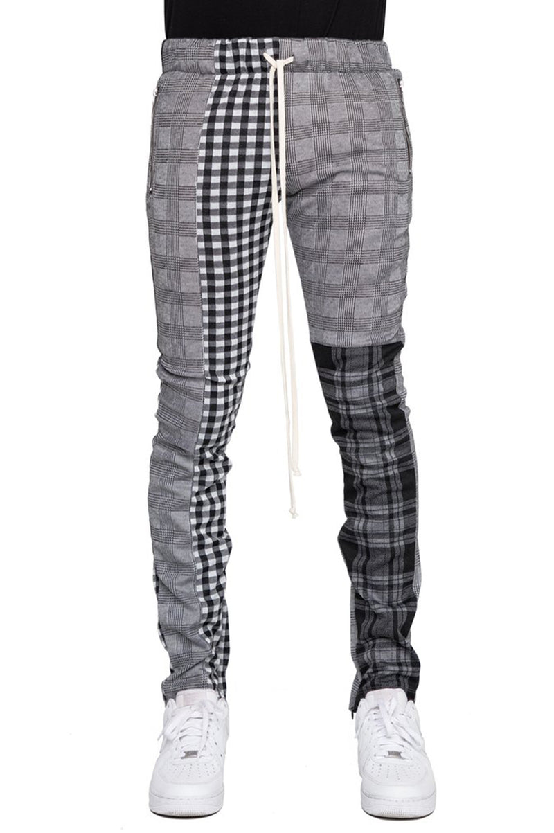Aao Fashion Men Plaid Color Block Pants