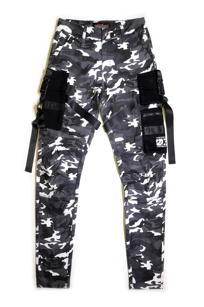 Aao Fashion Men 3D Cargo Pocket Camo Pants