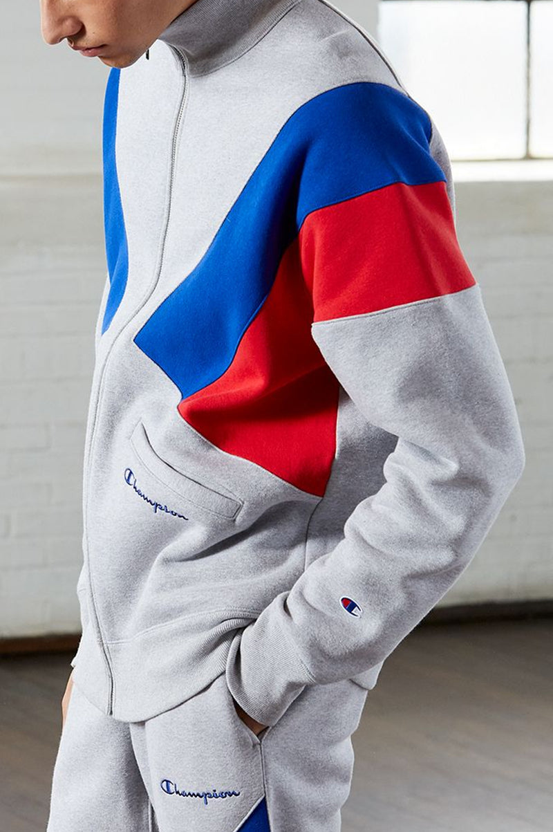 Champion Men Rw Color Block Track Jacket