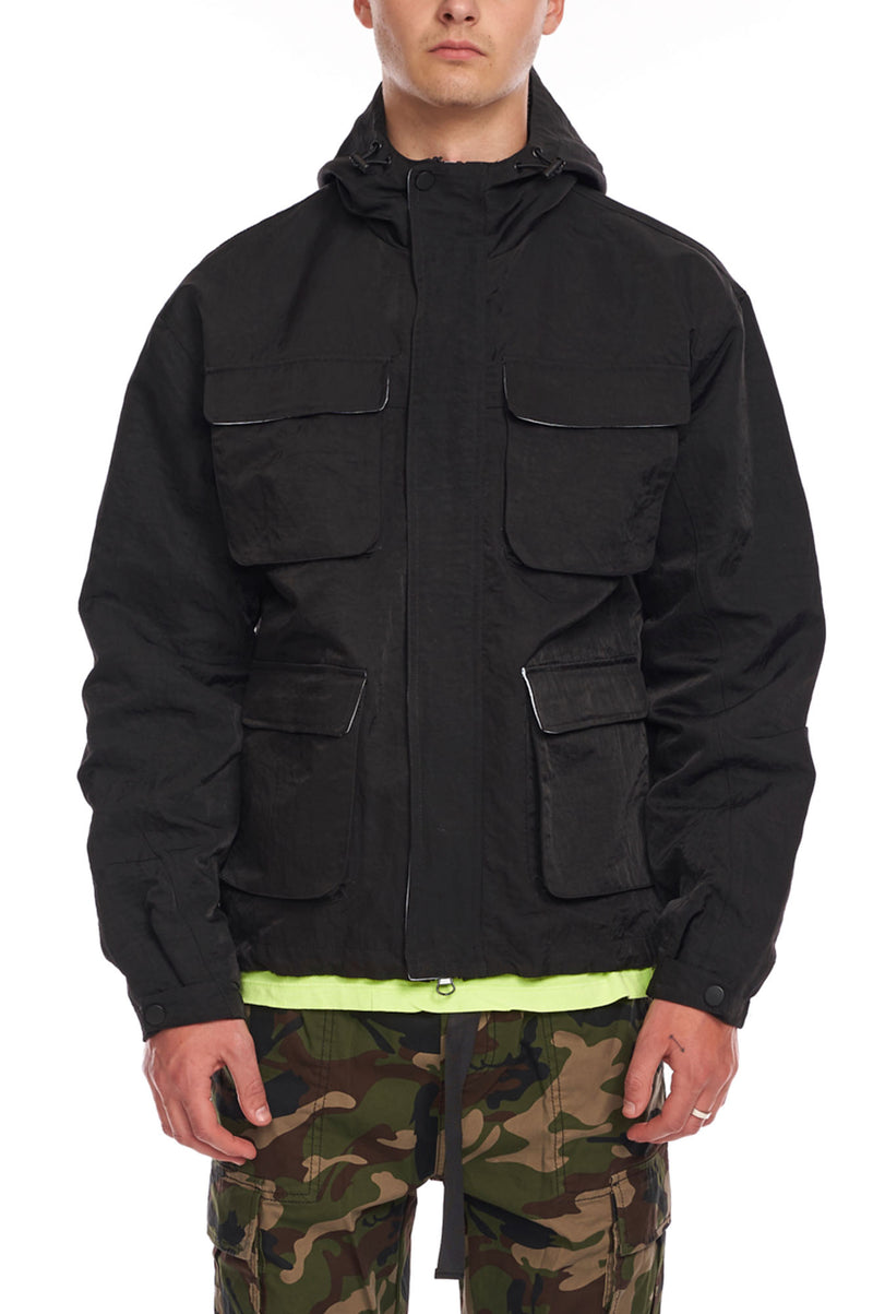 Aao Fashion Men Nylon Cargo Jacket