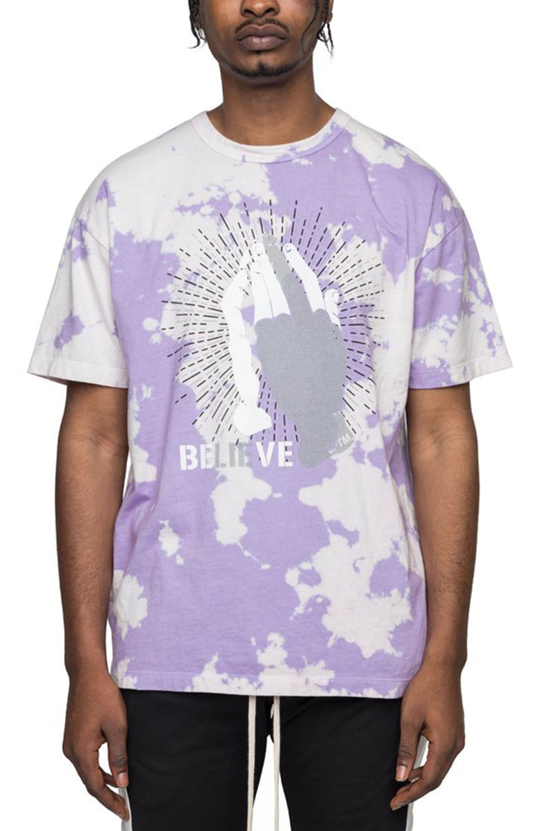 Aao Fashion Men Tye Dye Believe/Lie Tee
