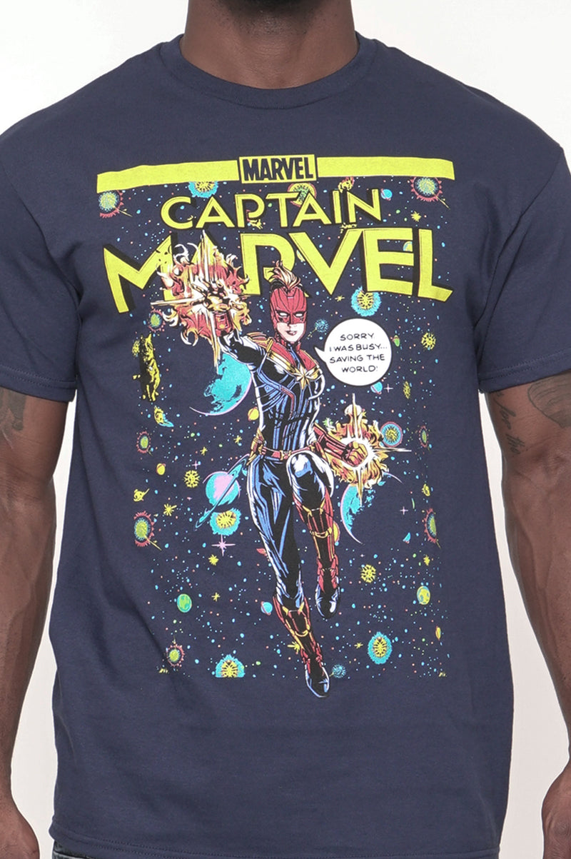 Aao Fashion Men Graphic Tee Captain Marvel