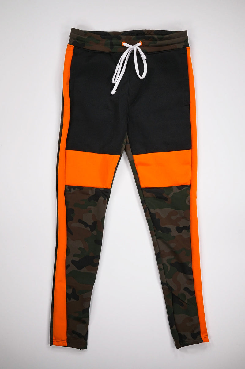 Aao Fashion Men Color Block Track Pants