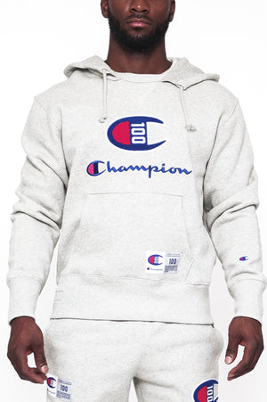 7ab6a8f1 Champion Men Century Collection Men'S Hoodie, C100 Chenille Logo ...