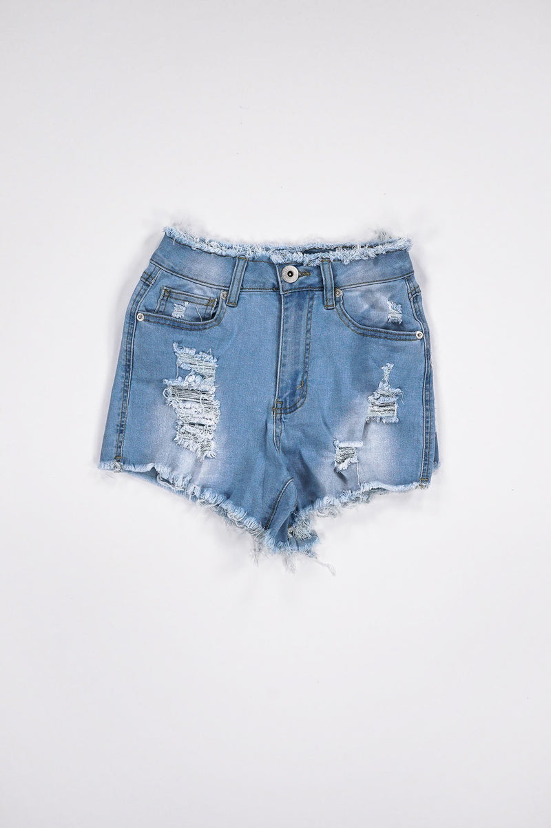 Aao Fashion Women Ripped Denim Shorts