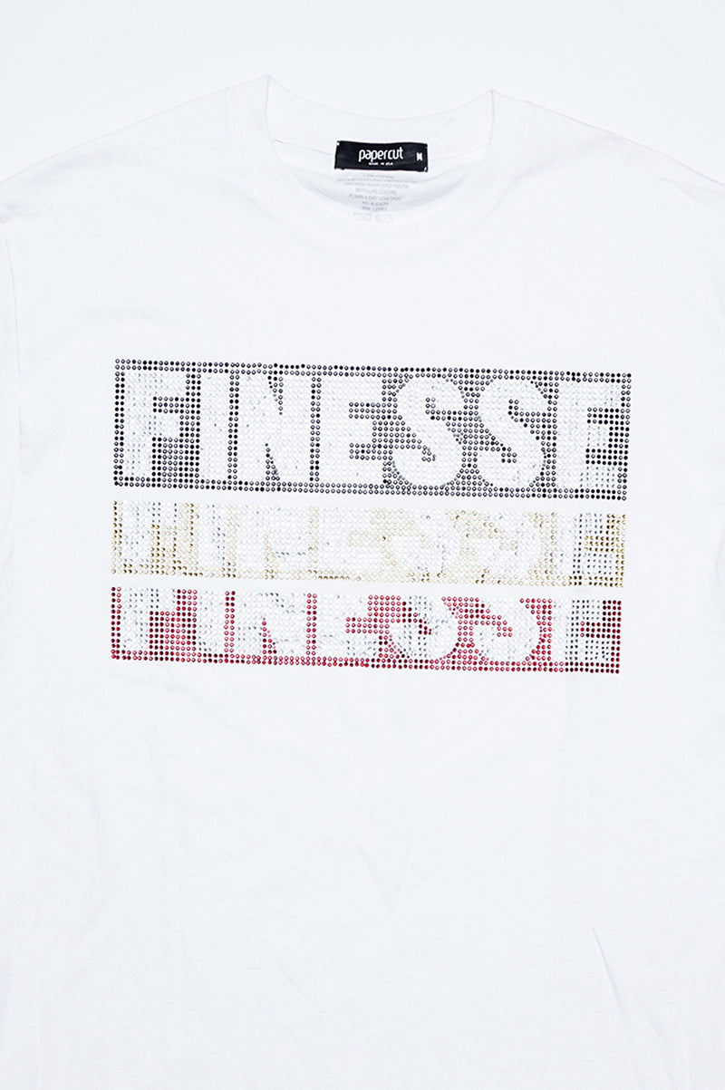Aao Fashion Men Rhinestone S/S Tee