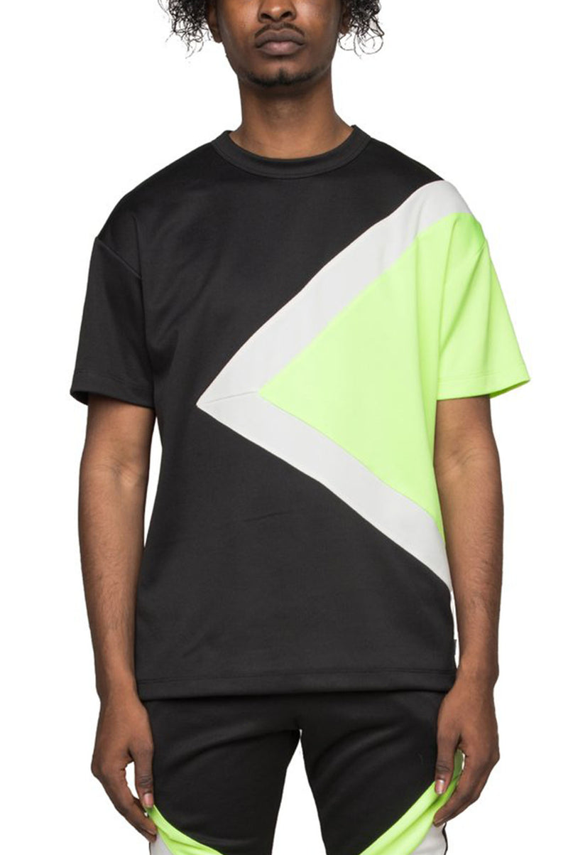 AAO FASHION Men NEON BLOCK TEE