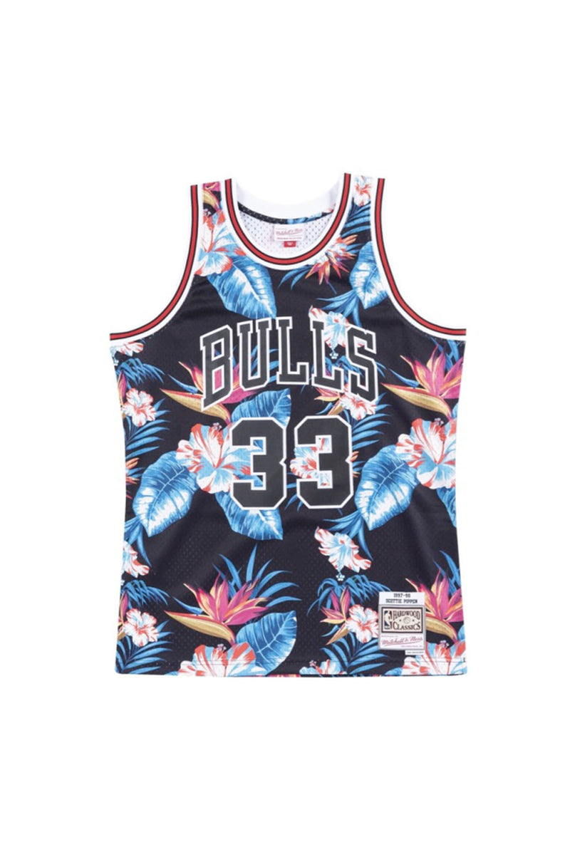 MITCHELL & NESS Men FLORAL SWINGMAN JERSEY - SCOTTIE PIPPEN