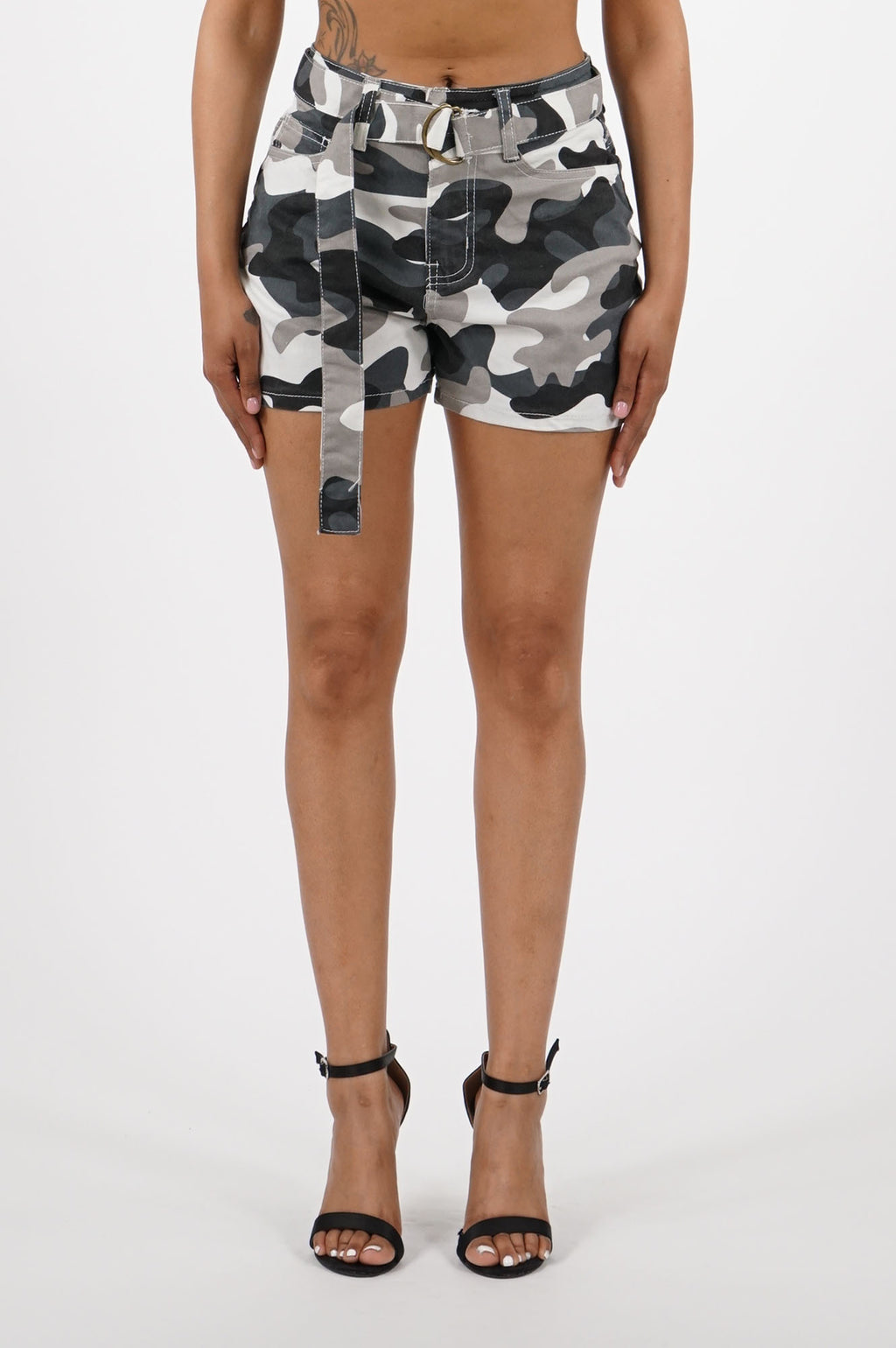 Aao Fahion Women Color Camo Shorts