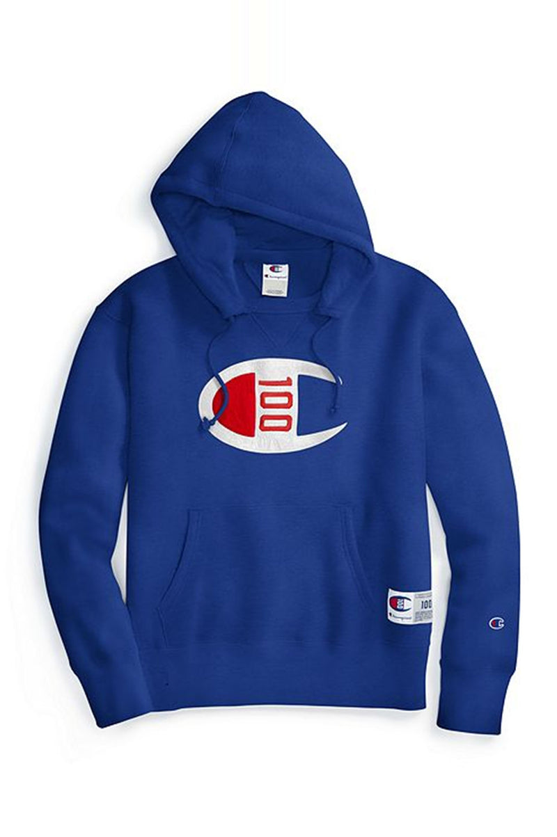 Champion Men Century Collection Men'S Hoodie, C100 Chenille Logo