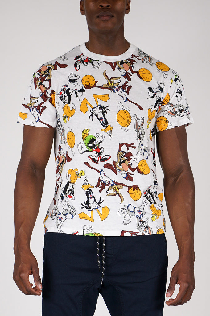 Aao Fashion Men Graphic S/S Tee Aop Looney Toon