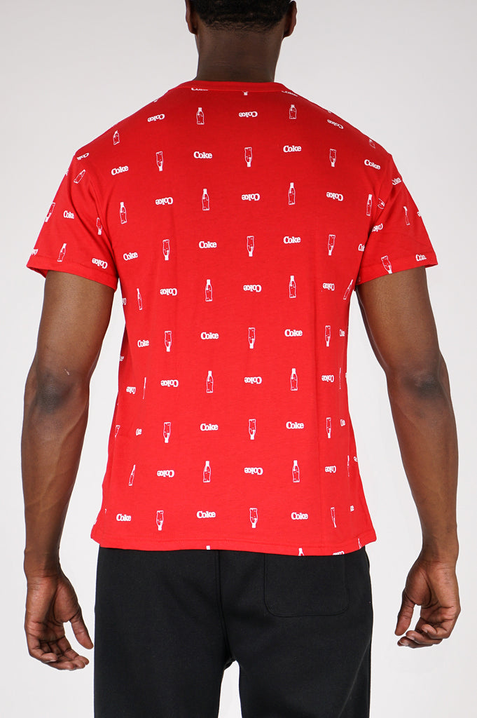 Aao Fashion Men Graphic S/S Tee Aop Coke