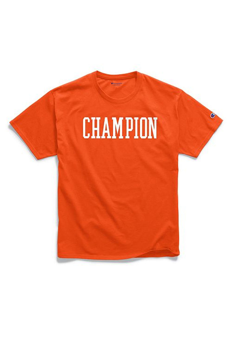 Champion Men Graphic Tee Block Logo