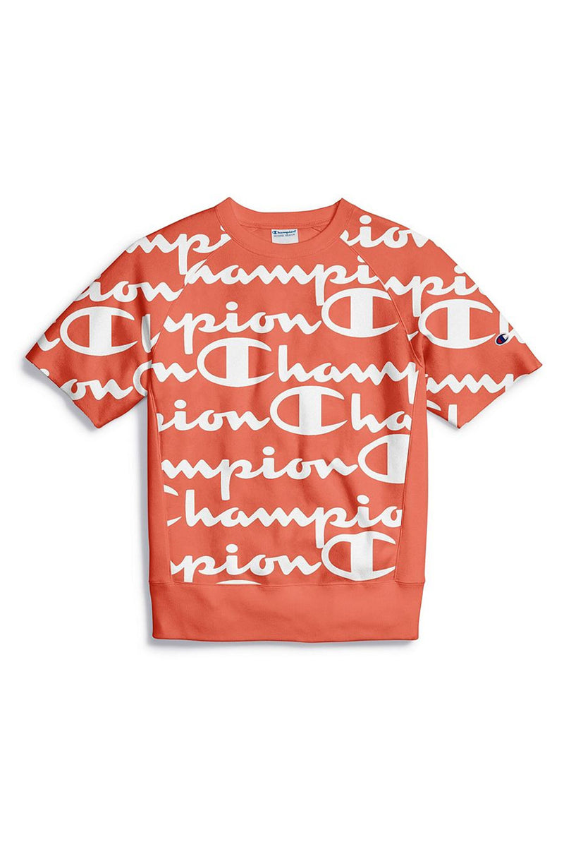 Champion Men Reverse Weave Short Sleeve Crew-Aop