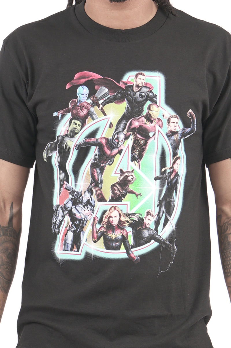 Aao Fashion Men Graphic Tee Avengers Collage