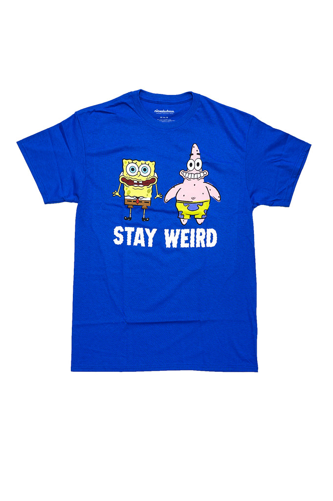 Aao Fashion Men Graphic S/S Tee Spongebob Stay Weird