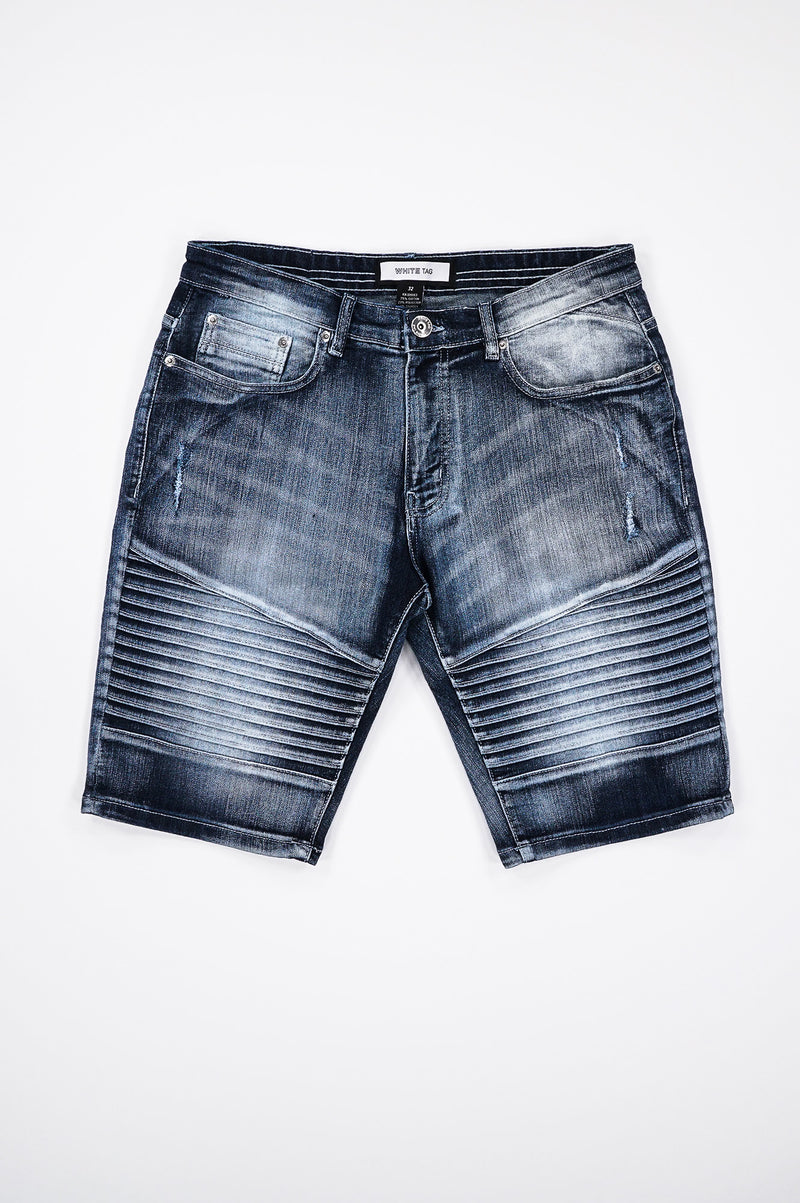 Aao Fashion Men Flex Ripped Biker Shorts