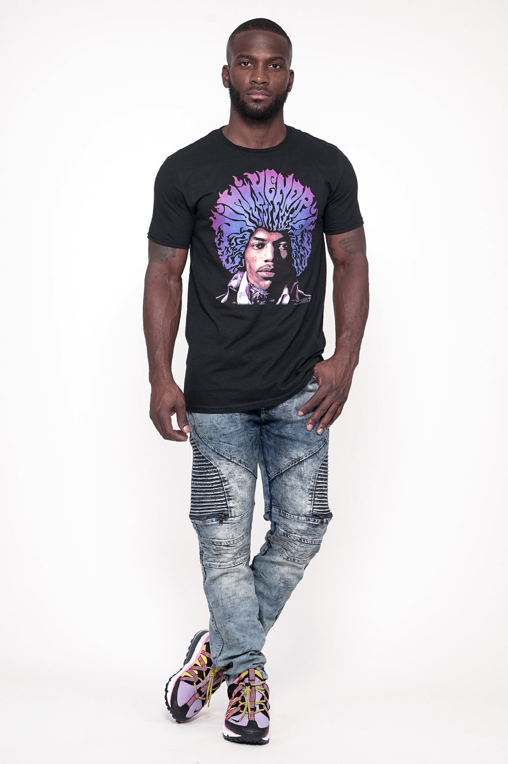 Aao Fashion Men Graphic Tee Jimi Hendrix