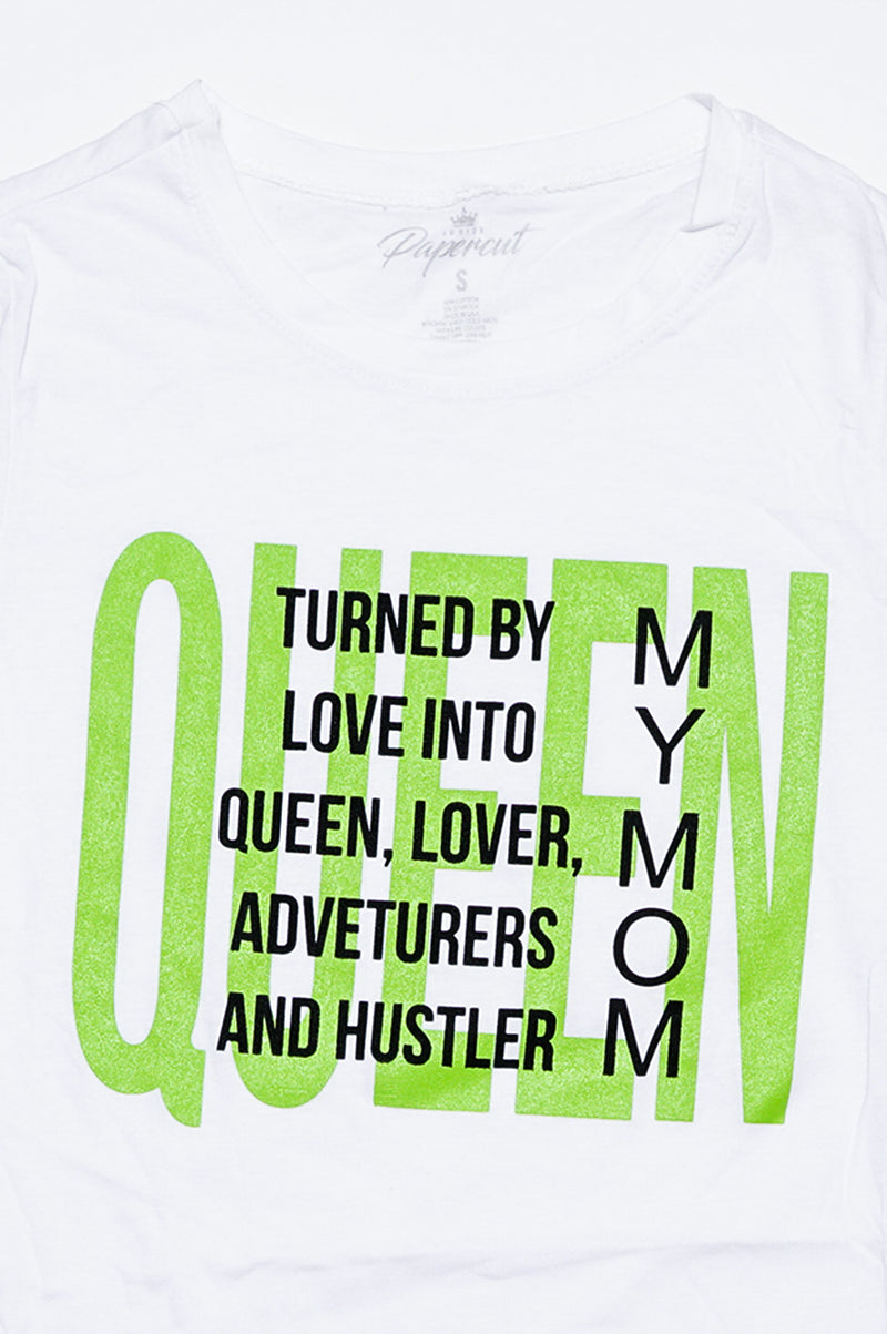 Aao Fashion Women Verbiage Tshirts - Queen