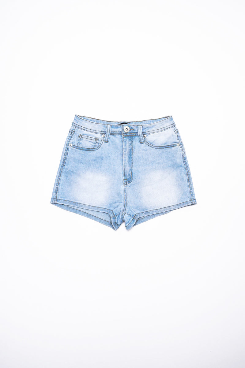 Aao Fashion Women Highwaisted Basic Denim Shorts