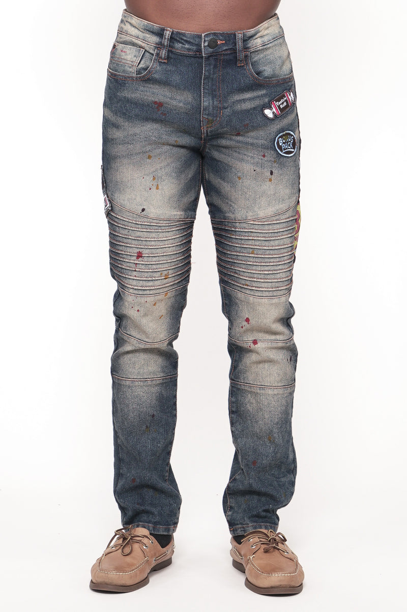 Southpole X Tootsie Men Patch Fashion Denim