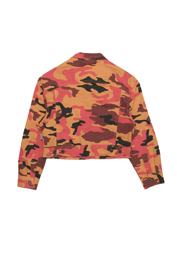 Aao Fashion Women Color Camo Jacket