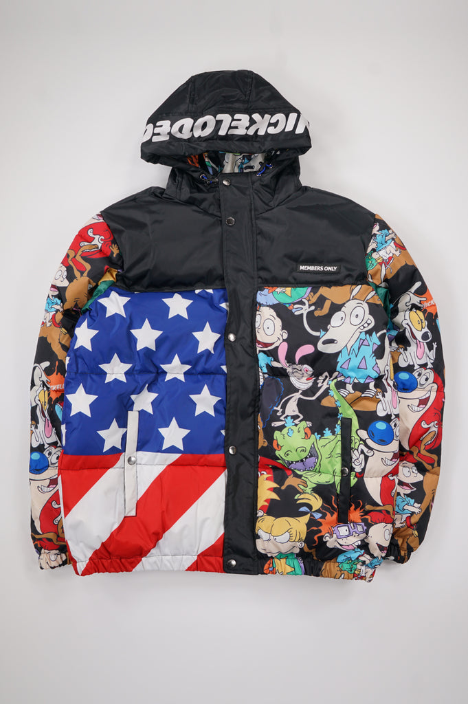 Members Only Men Nickelodeon Flag Jacket