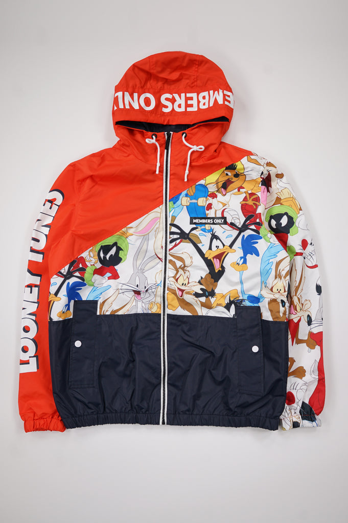 Members Only Men Looney Tunes Full Zip Jacket
