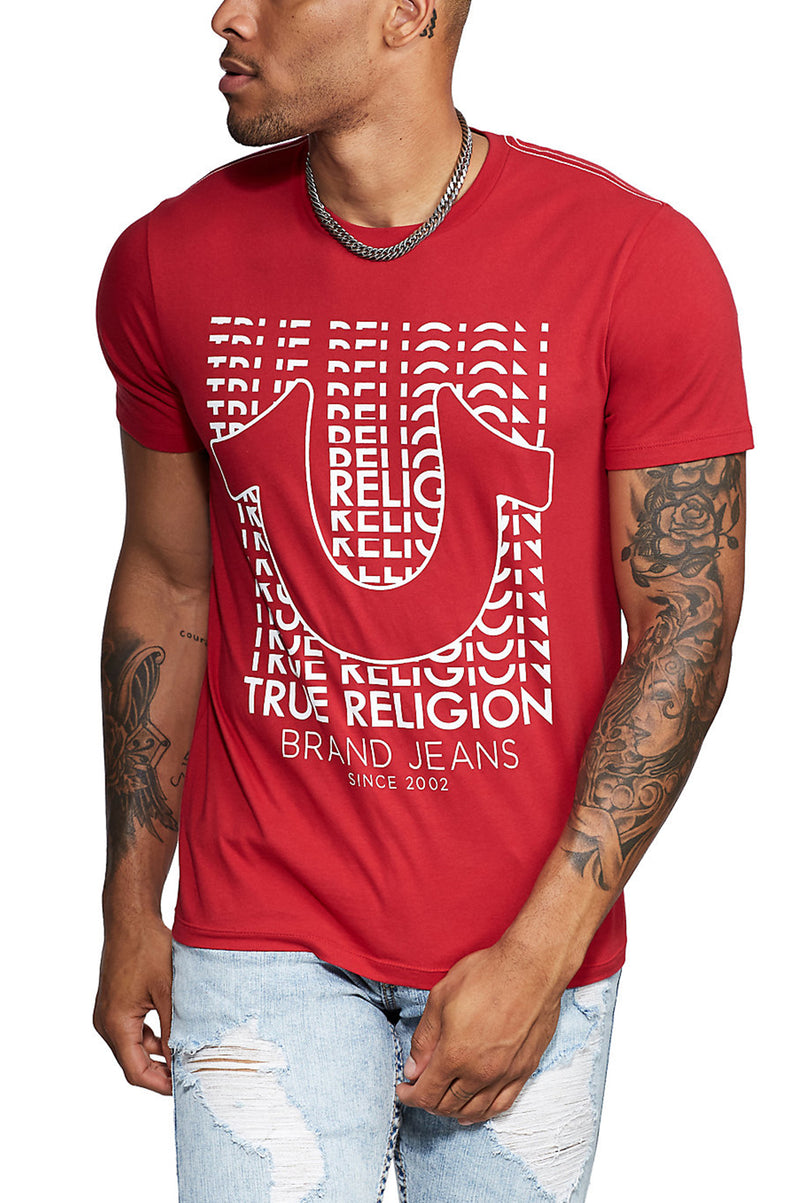 True Religion Men Black Hs Logo S/S Tee