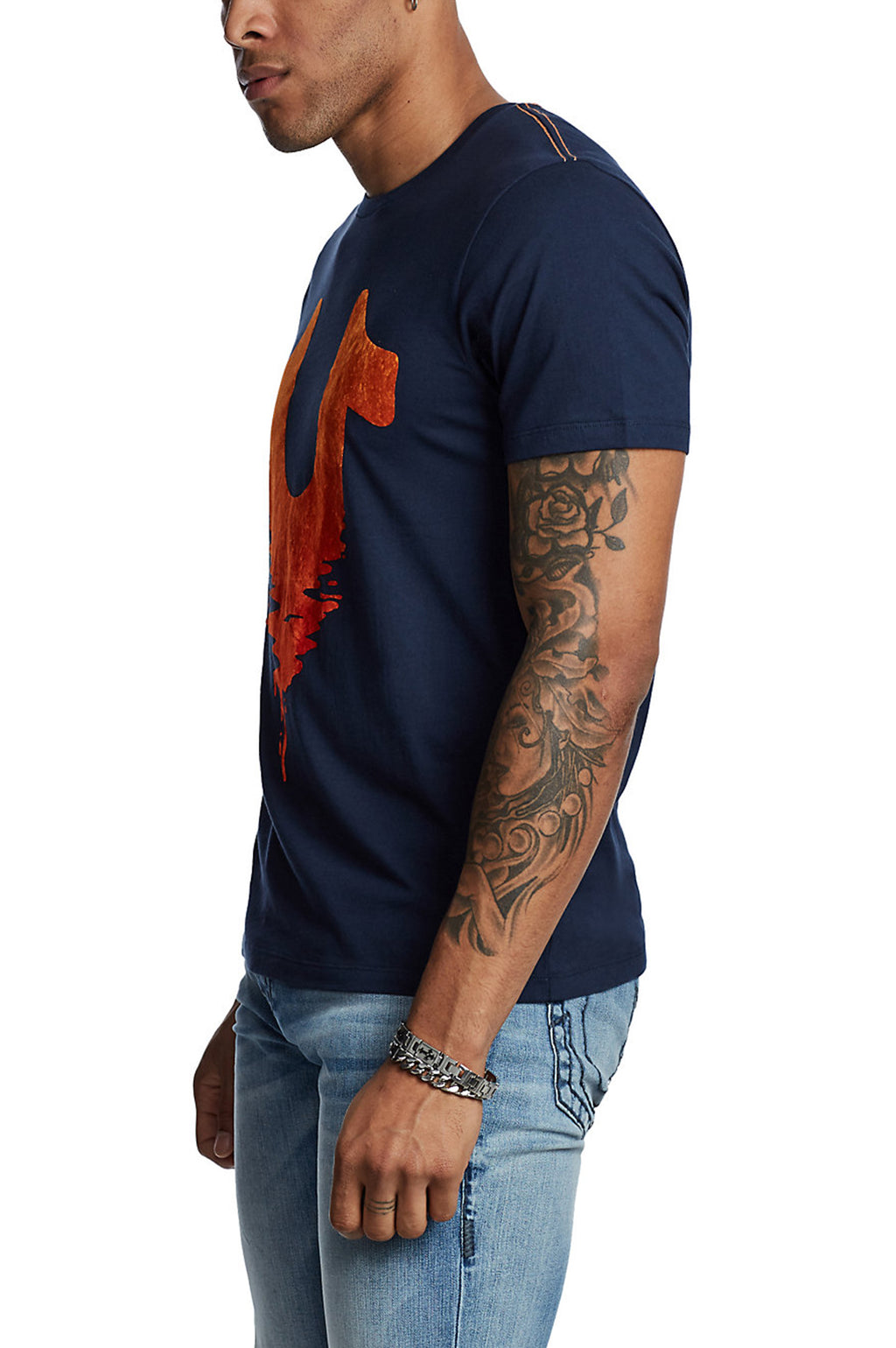True Religion Men Hs Logo Crew Neck S/S Tee