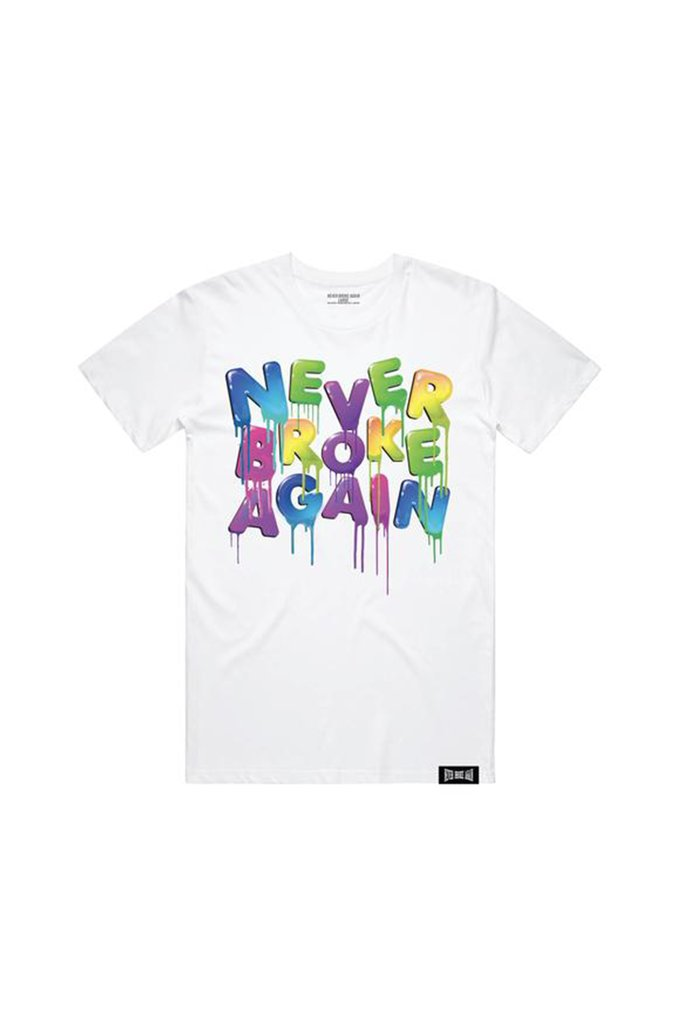 Aao Fashion Men Drip Colors S/S Tshirt